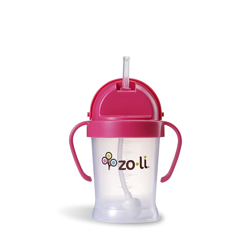 ZoLi BOT Straw Sippy Cup - Pink 6 oz