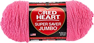 RED HEART 073650016004 Super Saver Jumbo Yarn, Perfect Pink