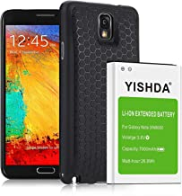 YISHDA 7000mAh Extended Li-ion Replacement Battery Compatible with Samsung Note 3 with Back Cover & TPU Case for N9000 N9005 N900A N900V N900P N900T | Galaxy Note 3 Battery [18 Month Warranty]