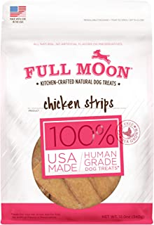 product image for Full Moon All Natural Human Grade Dog Treats, Chicken Strips, 12.5 Ounce