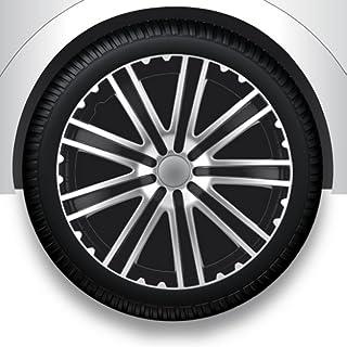 ZentimeX Radzierblenden Radkappen Radabdeckung 14' Zoll #41 SCHWARZ Silber ABS