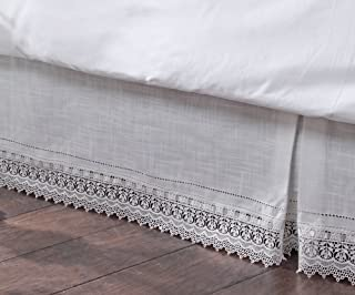 Stylemaster Renaissance Home Fashion Sophia Dust Ruffle/Bed Skirt, Queen, Ivory