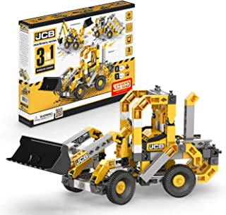 Engino JCB Toys Wheeled Loader - 3-in-One |Build 3 Iconic JCB Models | A Creative Stem Engineering Kit