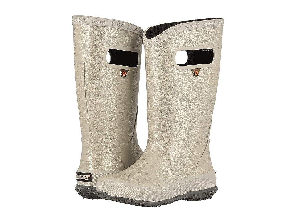 Bogs Kids Rain Boot Glitter (Toddler/Little Kid/Big Kid) (Silver) Girls Shoes