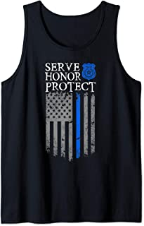 Gift idea for police officers Serve Honor Protect Tank Top