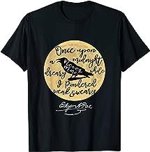 Gothic Edgar Allan Poe tshirt The Raven Literary Gifts