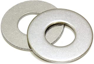 """1/4"""" Stainless Flat Washer, 5/8"""" Outside Diameter (100 Pack)- Choose Size, by Bolt Dropper, 18-8 (304) Stainless Steel"""