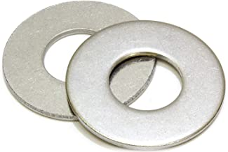 """3/8"""" Stainless Flat Finish Washer 7/8"""" OD (100pc) by Bolt Dropper, 18-8 (304) Stainless Steel"""