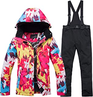comprar comparacion Conjunto de pantalones de chaqueta de esquí para mujer traje de esquí al aire libre impermeable caliente