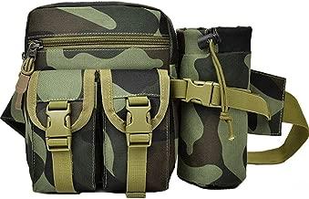 Rullar Hiking Waist Fanny Pack with Water Bottle Holder Tactical Drop Leg Bag Tackle Storage Bags & Wraps Running Waist Hip Belt Bag Motorcycle Bike Pouch Shoulder Bag