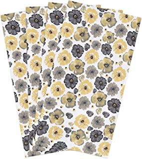 Infinidesign Floral Dish Towels 18x28in, 4 Piceces Kitchen Cloths with Exquisite Print, Absorbent Hand Towel for Cooking B...