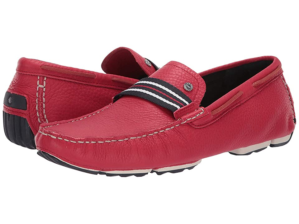 UGG Bel-Air Woven Stripe Slip-On (Samba Red) Men