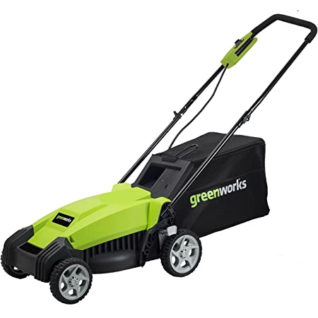 Greenworks 9 Amp 14-Inch Electric Lawn Mower, MO14B00