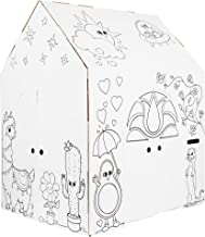 Easy Playhouse Magical Animal House - Kids Art & Craft for Indoor Fun, Color, Draw, Doodle on Favorite Friends - Decorate ...
