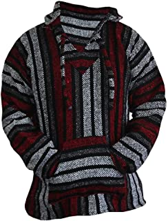 Del Mex Mexican Baja Hoodie Hippie Surf Poncho Sweater Sweatshirt Pullover Jerga