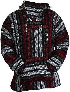 Del Mex Mexican Baja Hoodie Hippie Surf Poncho Sweater Sweatshirt Pullover Jerga