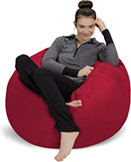 Sofa Sack - Plush, Ultra Soft Bean Bag Chair - Memory Foam Bean Bag Chair with Microsuede Cover - Stuffed Foam Filled Furniture and Accessories for Dorm Room - Cinnabar 3'