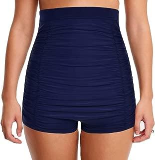 coastal rose Women's High Waisted Bikini Bottom Tie Front Swim Brief Bathing Suits Bottom Rose