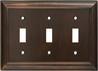 CKP Brand #31198 Triple Switch Wall Plate, Oil-Rubbed Bronze