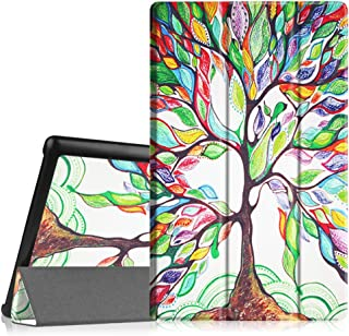 Fintie Samsung Galaxy Tab A 10.1 Case, Ultra Lightweight Protective  Stand Cover with Auto Sleep/Wake Feature for Tab A 10.1 Inch (NO S Pen Version SM-T580/T585/T587) Tablet, Love Tree