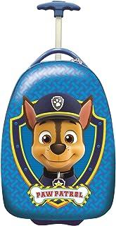 LEXIBOOK-La Patrulla Canina-Maleta de Viaje de Chase, 42cm, asa telescópica y Ruedas Luminosas FSC100PA, Color Azul