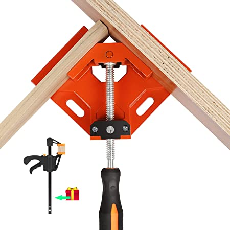 Carpenter Welding 90 Degree Corner Clamp Auto-Adjustable 90/° Right Angle Clamps Tools for Wood-Working Photo Framing Engineering 1PCS