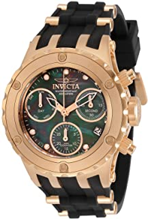 Invicta Women's Specialty Quartz Watch with Stainless Steel, Silicone Strap, Rose Gold, Black, 23.5 (Model: 30431)