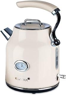 Korona 20666 bouilloire électrique | crème | 1,7 litres | 2 200 watts | filtre anti-calcaire | arrêt vapeur | protection c...