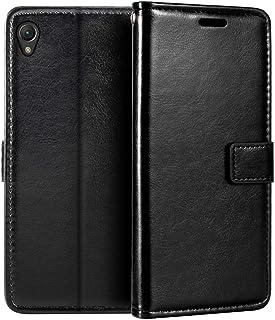 Sony Xperia Z2 plånboksfodral, premium PU-läder magnetiskt flip fodral med korthållare och ställ för Sony Xperia Z2