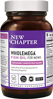 New Chapter Prenatal DHA - Wholemega for Moms Fish Oil Supplement with Omega-3 + Vitamin D3 for Prenatal & Postnatal Suppo...