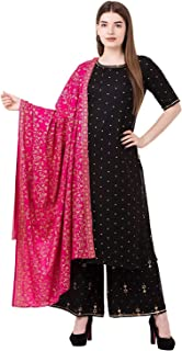 Habiliments for Women with Dupatta Set (Black)