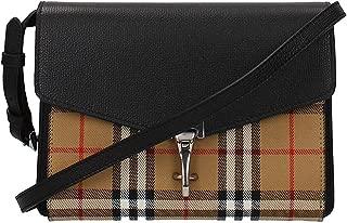 Small Vintage and Check Crossbody Bag- Black