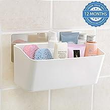 HOKIPO Magic Sticker Series Plastic Self Adhesive Bathroom Shelves (Multicolour)