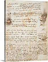 GREATBIGCANVAS Gallery-Wrapped Canvas Codex on The Flight of Birds, by Leonardo da Vinci, 1505-1506. Royal Library, Turin by Leonardo da Vinci 30