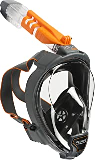 OCEAN REEF - Aria QR + Quick Release Snorkeling Mask - Full Face Snorkeling Mask - 180 Degree Underwater Vision - 5 Different Colors and 3 Sizes