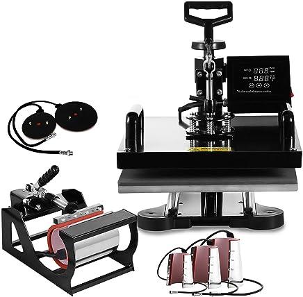 Mophorn Heat Press Machine 8 in 1 Digital Transfer Sublimation T Shirt Heat Press 15x15 Inch Heat Press for T-shirt Hat Mug Plate Cap
