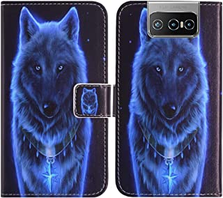 TienJueShi Wolf Fashion Stand TPU Silicone Book Stand Flip PU Leather Protector Phone Case For Asus Zenfone 7 Pro ZS671KS ...