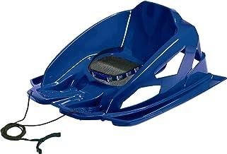 AlpenGaudi Bambino - veilige Bob slee voor peuters met hoge zijwanden, veiligheidsgordel en trekkoord, blauw, één maat