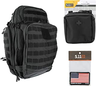 5.11 RUSH72 Tactical Backpack Med First Aid Patriot Bundle - Double Tap