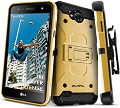 LG X Power 2 / LG X Charge/LG Fiesta 2 / LG Fiesta LTE Case, Evocel [Trio Pro Series] Textured Body, Multiple Layers, Kick...