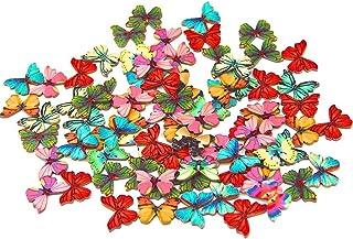 50 x Schmetterlinge/Insekten in gemischten Farben aus Holz m