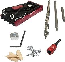 Milescraft 13230003 PocketJig200 Kit - Complete Pocket Hole Kit with Jig, Bit, Screws and Drivers, Black/Red