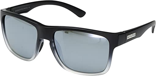 Black Gray Fade/Polarized Silver Mirror Polycarbonate Lens