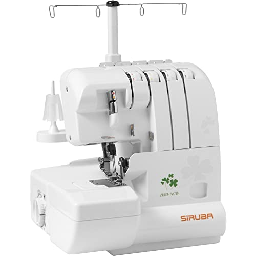 SiRUBA HSO-747D Overlock Sewing Machine for professional finish, with 2 Needle-4