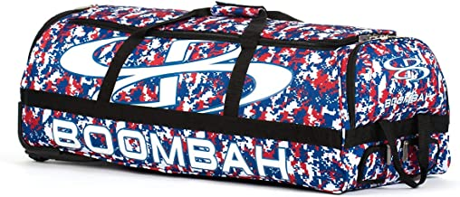 "Boombah Brute Camo Rolling Baseball/Softball Bat Bag - 35"" x 15"" x 12-1/2"" - Multiple Color Options - Holds 4 Bats and Roo..."