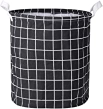 Large Laundry Basket With Durable Leather Handles, Cotton And Linen Foldable Storage Basket, 33×40cm Bedroom Dirty Laundry...