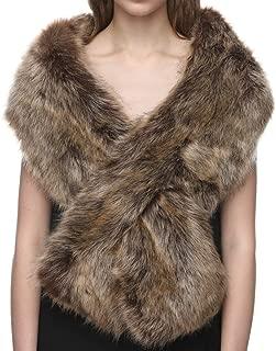 Women's Winter Fake Faux Fur Scarf Wrap Collar Shawl Shrug