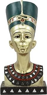 Ebros Golden Ancient Egyptian Queen Nefertiti Bust Statue 9.75