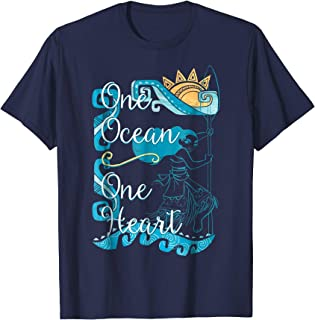 Disney Moana One Ocean Heart Colorful Waves Graphic T-Shirt