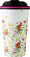 Avanti Go Cup Double Wall Travel Cup, Australian Natives White, 13474